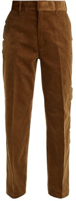 Toga Scallop-edge Cotton-corduroy Trousers - Womens - Camel
