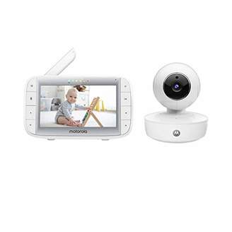 Equipment Motorola MBP50A Video Baby Monitor with 5 Inch Handheld Parent Unit, Infared Night Vision and Room Temperature Display