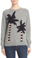 Chinti and Parker Reverse Intarsia Palm Tree Cashmere Sweater