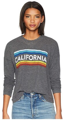 The Original Retro Brand California Super Soft Haaci Pullover (Black Haaci) Women's Clothing