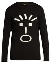 Fendi Faces-intarsia Crew-neck Sweater