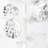 Minted Wintry Mix Silver Foil-Pressed Paper Ornaments
