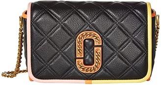 Marc Jacobs The Status Color-Blocked Flap Crossbody (Black Multi) Handbags