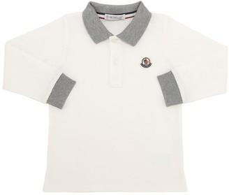 Moncler L/s Cotton Jersey Polo T-shirt