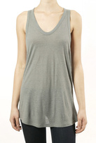 T by Alexander Wang Silk Slub Tank Grey