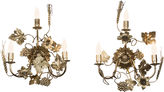 One Kings Lane Vintage Gilt Metal Wall Sconces, Pair