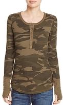 Splendid Camouflage Henley Top