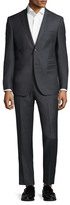 Zanetti Luca Wool Sharkskin Notch Lapel Suit