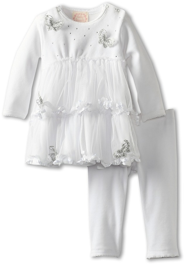 Biscotti Winter Wonderland Infant Dress Legging (Infant) (White) Girl's Sets