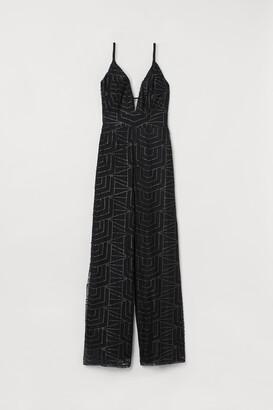 H&M Glittery mesh jumpsuit