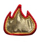 Logophile Embroidered Fire Patch