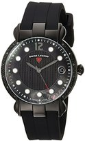 Swiss Legend Women's 'Layla' Quartz Stainless Steel and Silicone Casual Watch, Color:Black (Model: 16591SM-BB-01)