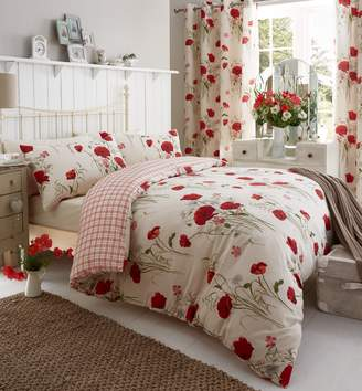 Catherine Lansfield Wild Poppies Duvet Cover Set