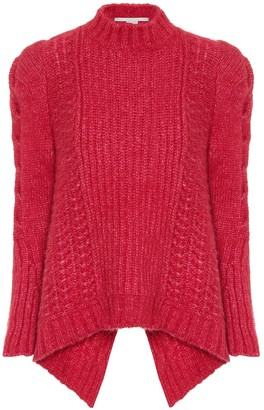 Stella McCartney Cable-knit alpaca-blend sweater