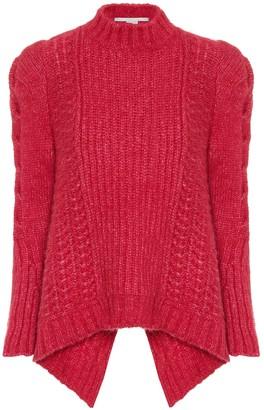 Stella McCartney Cable-knit alpaca-blend sweater