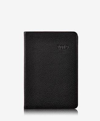 GiGi New York 2019 Daily Journal, Black Pebble Grain Leather