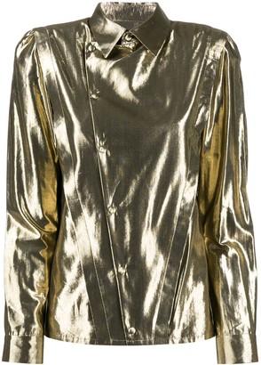 Saint Laurent Asymmetric Metallic Shirt