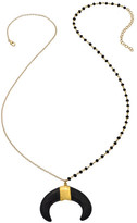 Heather Hawkins Protection Necklace - Black Double Horn