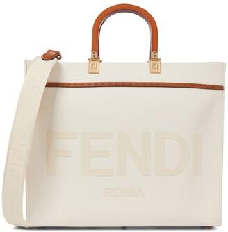 Fendi Sunshine Medium canvas shopper