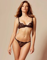 Agent Provocateur Giovanna Thong Black and Gold