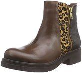 Inuovo Women's GIRLIEGIRL Cold lined classic boots half length Brown Size: 6