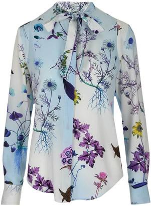 Stella McCartney Floral Neck-Tie Blouse