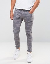 Brooklyn Supply Co. Brooklyn Supply Co Super Skinny Fit Jeans In Gray Camo