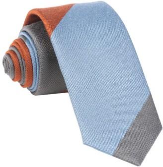 Tie Bar The Mega Stripe Orange Tie