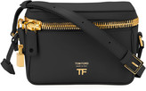 Tom Ford Metro Small Soft Leather Box Shoulder Bag with Golden Hardware