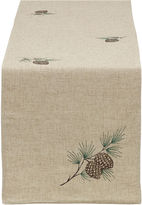 DESIGN IMPORTS Design Imports Embroidered Pinecone Table Runner