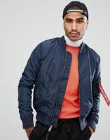 Alpha Industries Ma-1 Tt Bomber Jacket Slim Fit In Navy