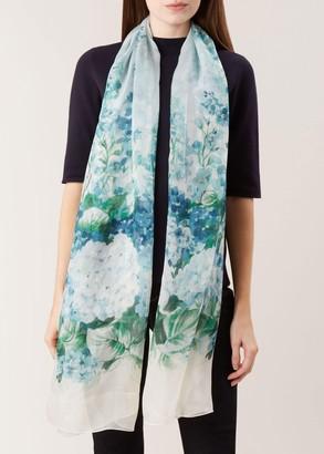 Unlimited Hydrangea Silk Scarf