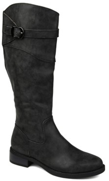 Journee Collection Brooklyn Wide Calf Riding Boot