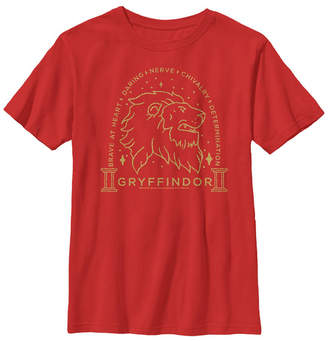 Fifth Sun Harry Potter The Deathly Hallows Brave At Heart Gryffindor Little and Big Boy Short Sleeve T-Shirt