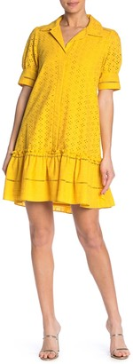 Taylor Eyelet Drop Yoke Shirt Dress