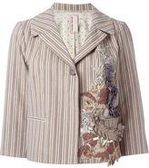 Antonio Marras ribbon appliqué striped jacket