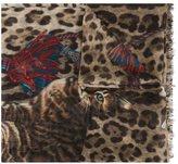 Dolce & Gabbana kitten print scarf