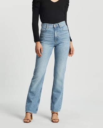 Mng Women's Blue High-Waisted - Urban Jeans - Size 32 at The Iconic