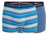 Tommy Hilfiger Pack Of Two Blue Striped Hipster Trunks