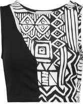 Kain Label Serena Paneled Printed Stretch-Jersey Sports Bra
