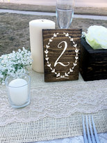 Etsy Wedding Double Sided Table Numbers, Wreath, Script Wooden Table Numbers, Wood Table Numbers, Calligr