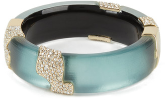Alexis Bittar Crystal Encrusted Sectioned Hinge Bracelet