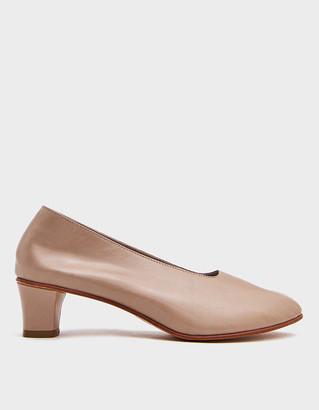 Martiniano Women's High Glove Heel in Beige, Size 37 | Leather