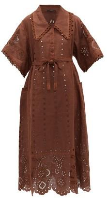 Vita Kin - Charlotte Chelsea-collared Linen Dress - Brown