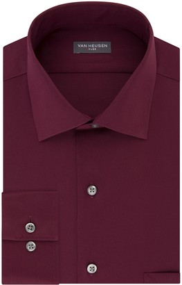 Van Heusen Mens Regular-Fit Flex Spread-Collar Dress Shirt