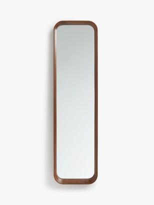 John Lewis & Partners Astrid Rounded Corner Mirror, Walnut Wood, 123 x 33cm