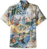 Reyn Spooner Men's Trans Pacific 40's Classic Fit Pullover Hawaiian Shirt