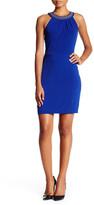 Jessica Simpson Studded Jewel Neck Dress