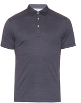 Brunello Cucinelli Cotton and silk-blend polo shirt