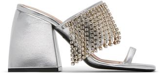 Nodaleto Silver Crystal Bulla Preston Heels